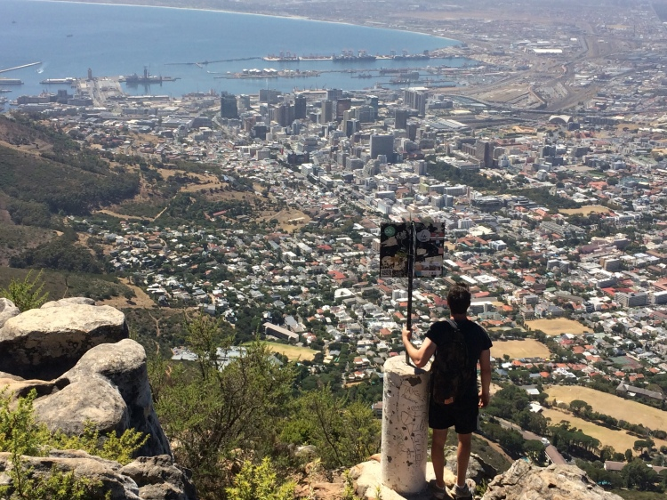 Looking down on Cape Town